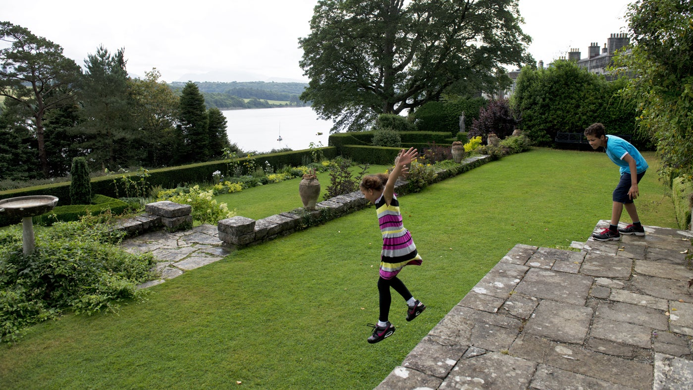 Children playing at Plas Newydd