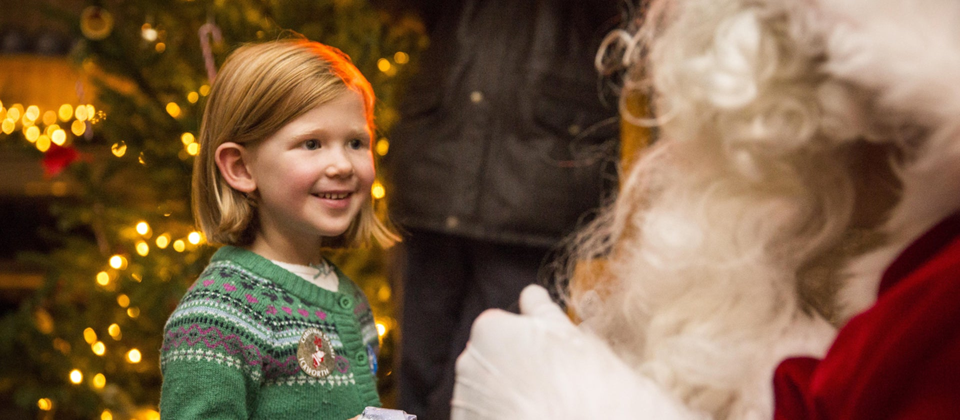 Wicken Christmas.Father Christmas East Of England National Trust