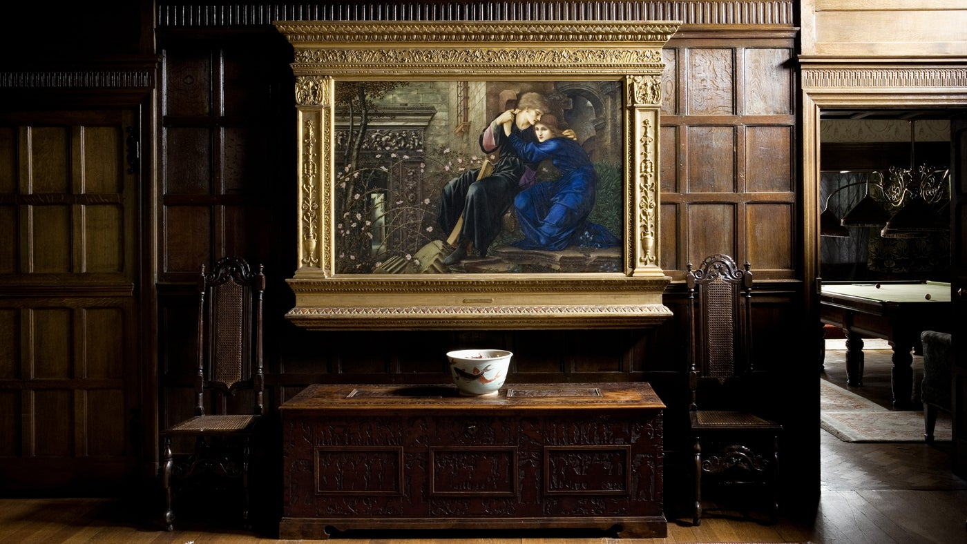 'Love Among the Ruins' by Burne-Jones displayed in the Great Parlour, Wightwick Manor