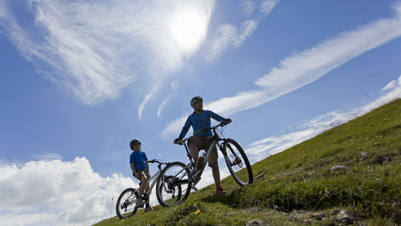 Visitors exploring the Yorkshire Dales by mountain bike