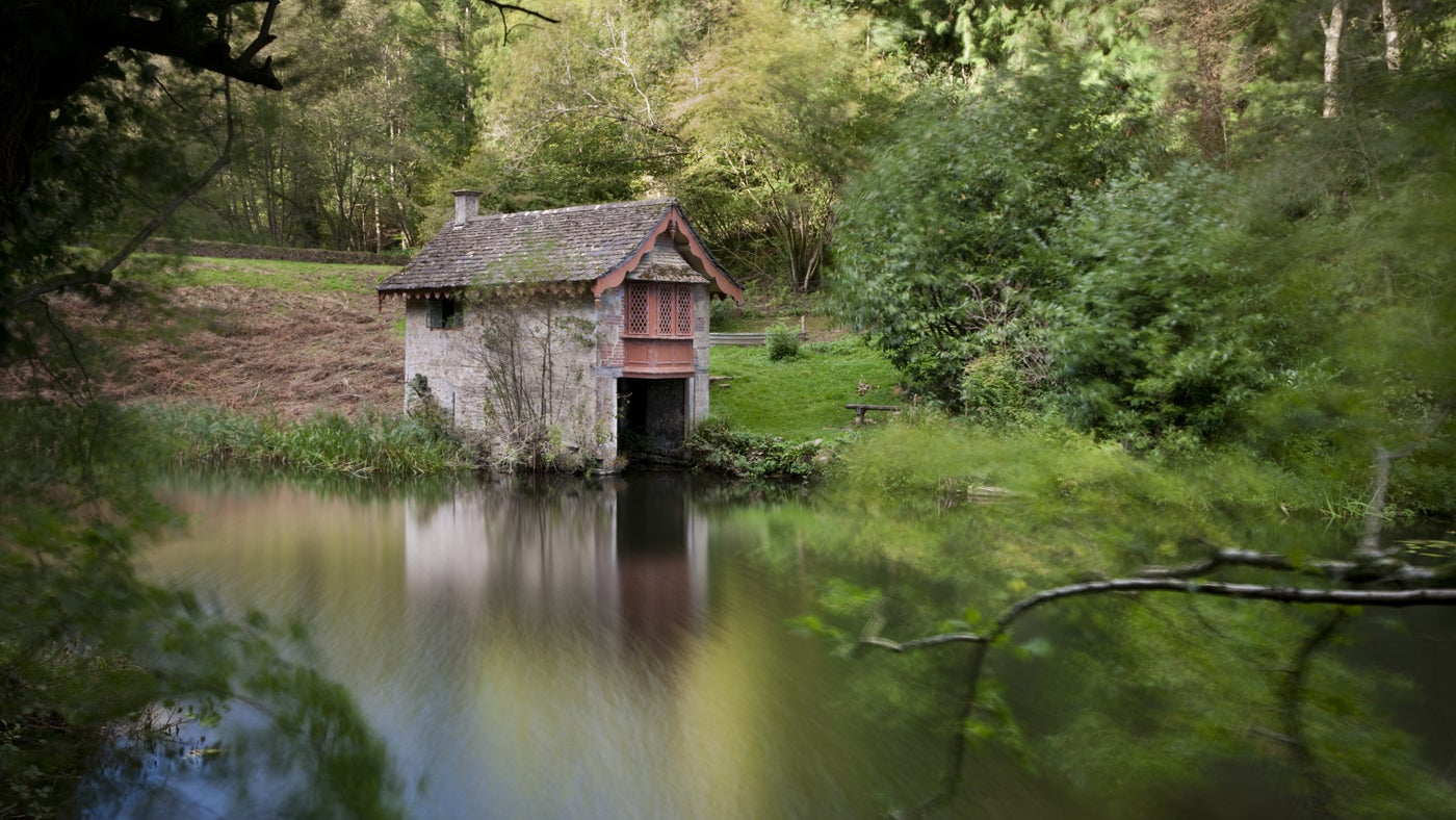 Woodchester Park boathouse, Gloucestershire
