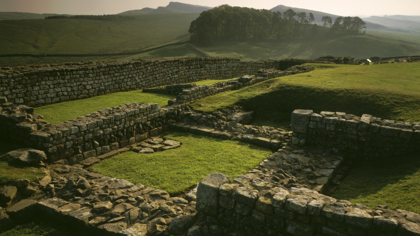 A view over Housesteads Fort at Hadrians Wall
