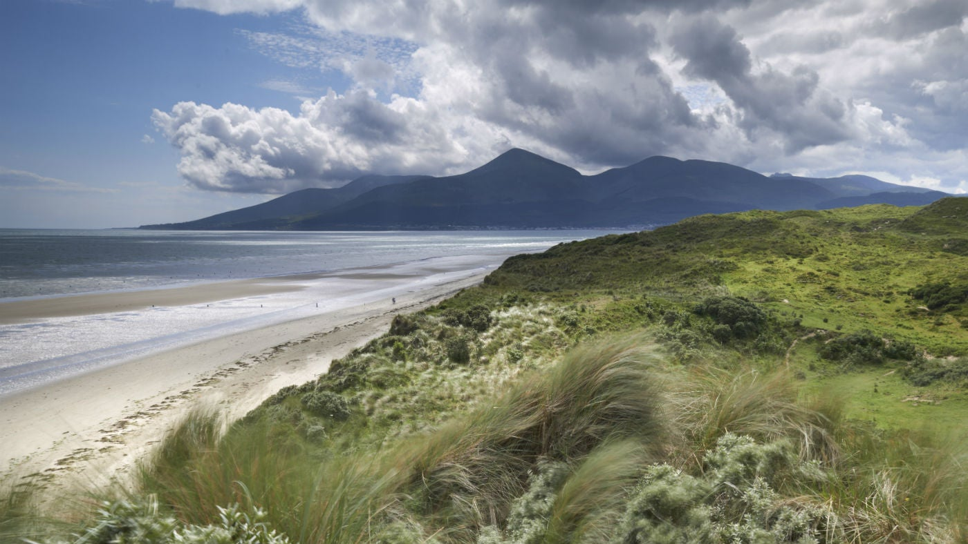 View to the Mourne Mountains from Murlough National Nature Reserve, County Down, Northern Ireland