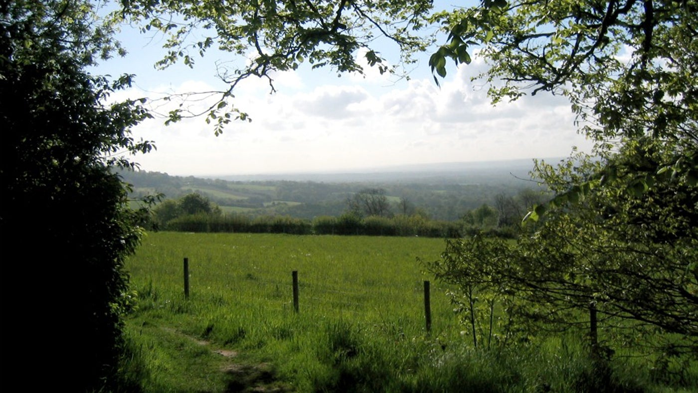 View from Mariners Hill in Kent