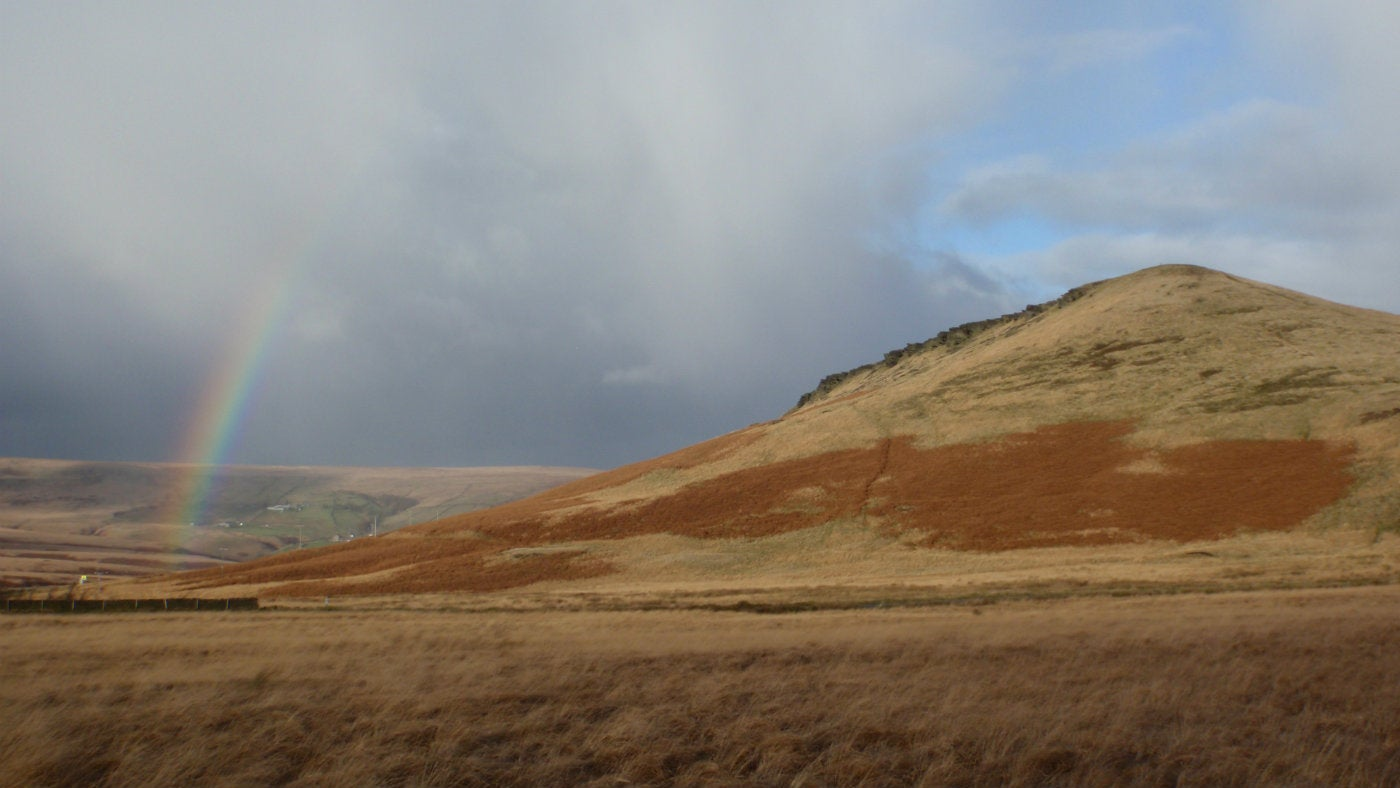 Rainbow over Pule Hill, Marsden Moor, West Yorkshire