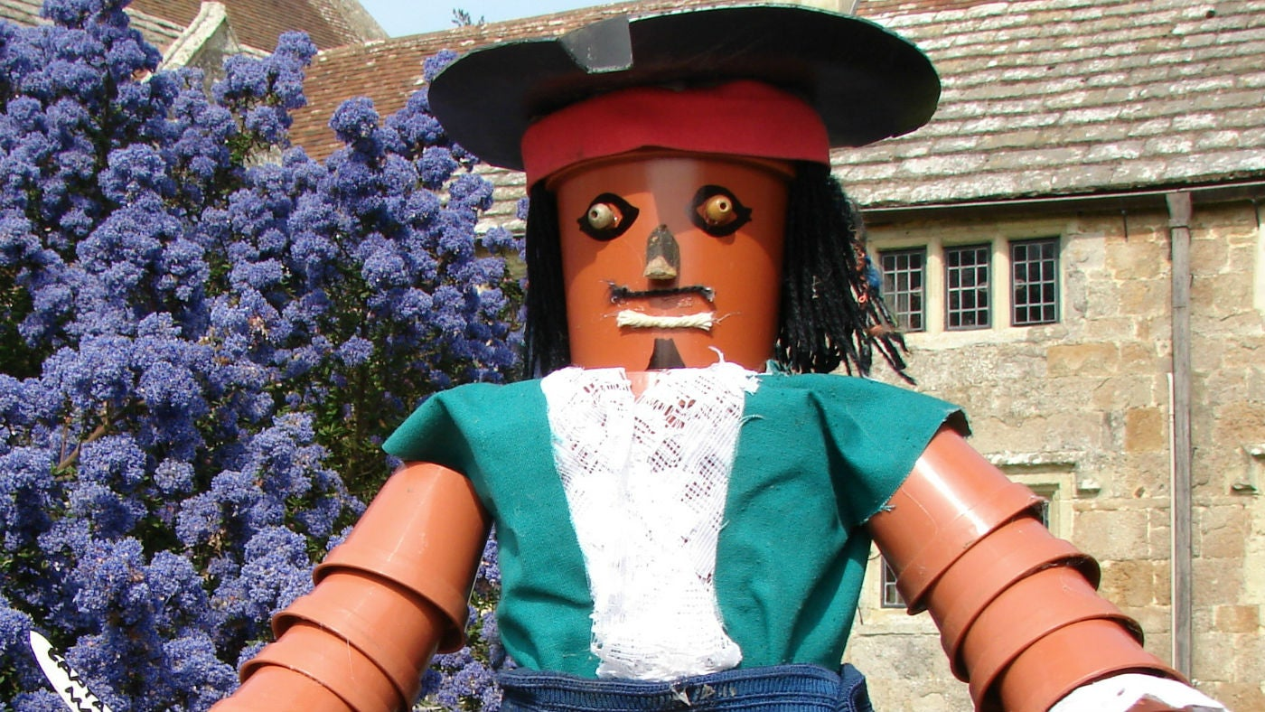 A character on the Mottistone Gardens family flowerpot trail