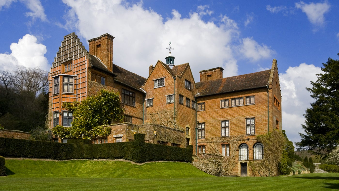 The south front of Chartwell, the home of Sir Winston Churchill between 1922 and 1964, Kent