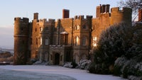 Frosty sunrise at Croft Castle and Parkland in Herefordshire