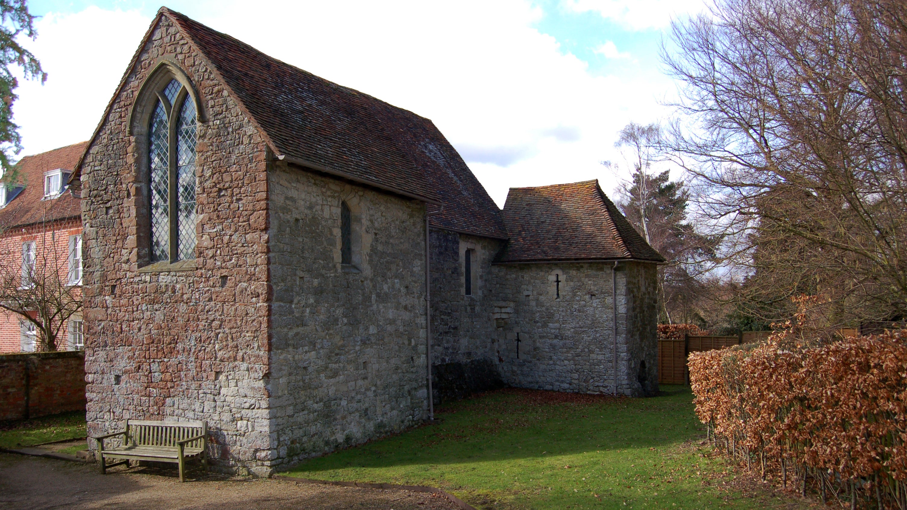 The exterior of the remaining 13th century home