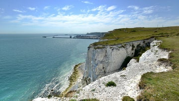 A view of the cliffs looking towards the Port of Dover