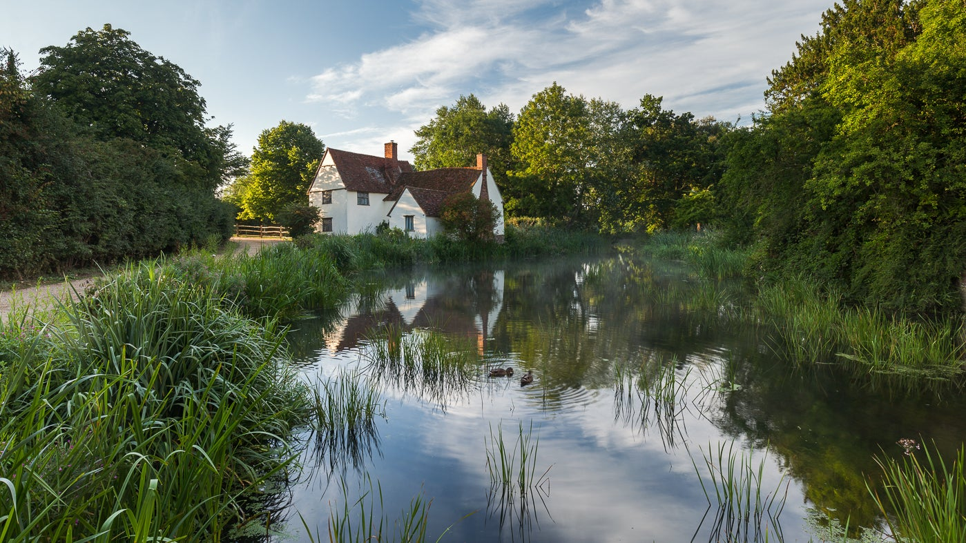Willy Lott's House as seen in the Hay Wain