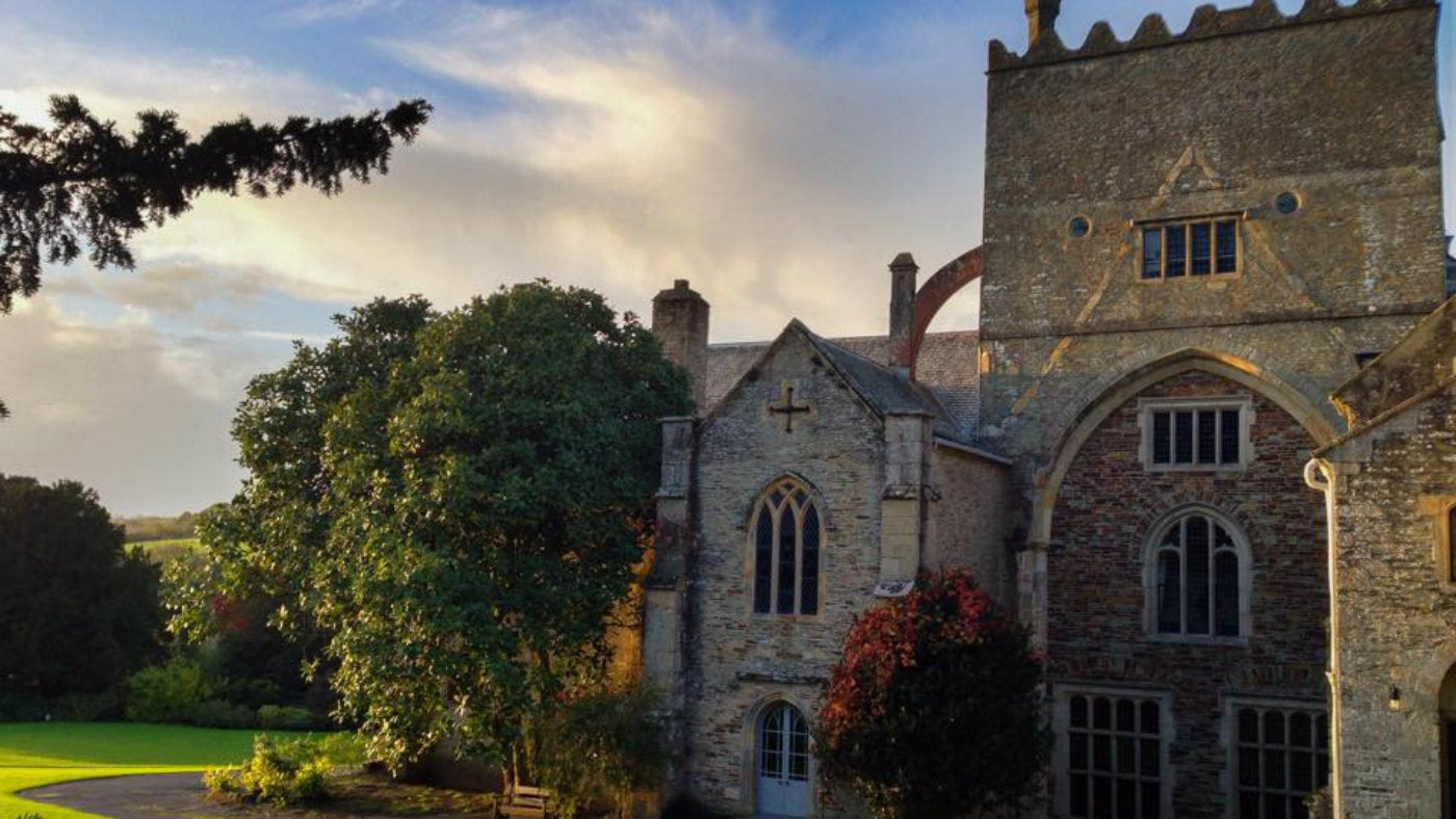 Sunset over Buckland Abbey