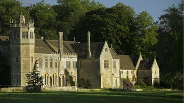 The East Terrace of Lacock Abbey in Wiltshire