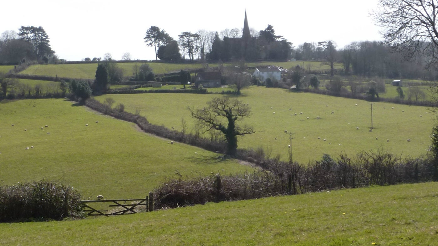 The rollong fields and hedges of Failand