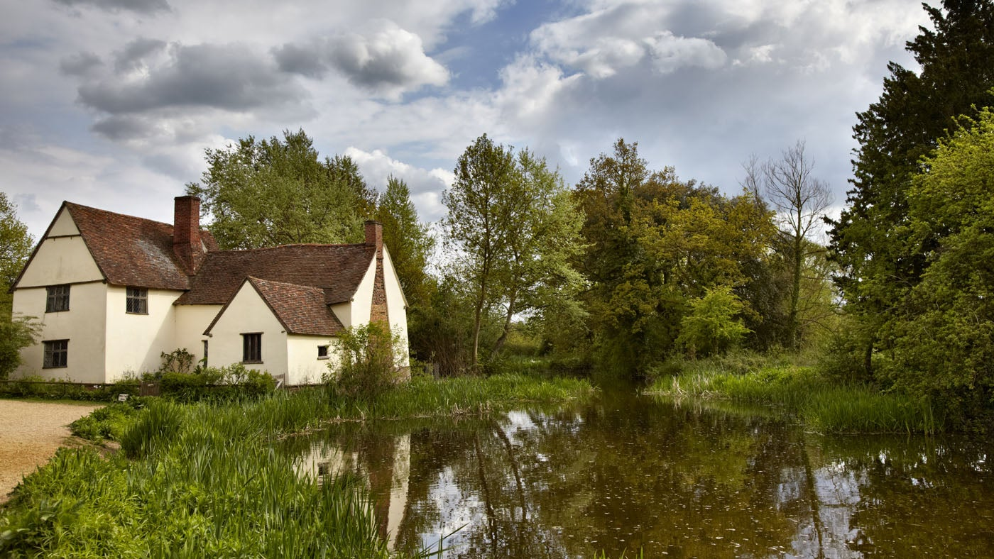 Willy Lott's House at Flatford and the River Stour, Suffolk