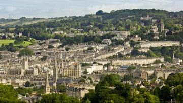Views across the city of Bath from the Skyline