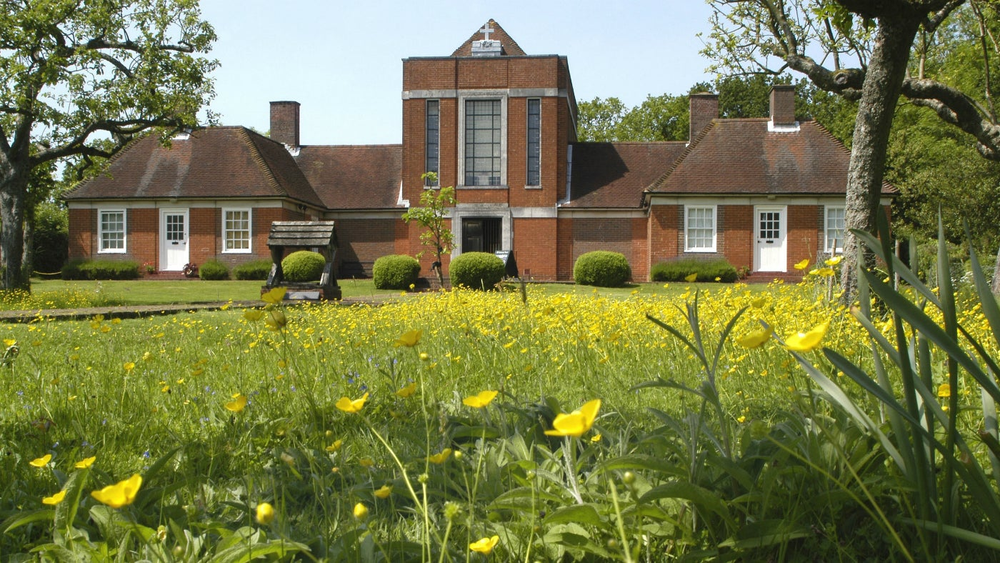 Front view of Sandham Memorial Chapel, Hampshire