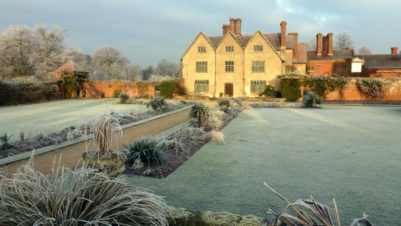 Frost at Packwood House Warwickshire