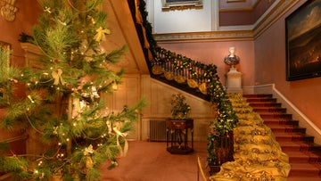 Decorations on the staircase at Wimpole