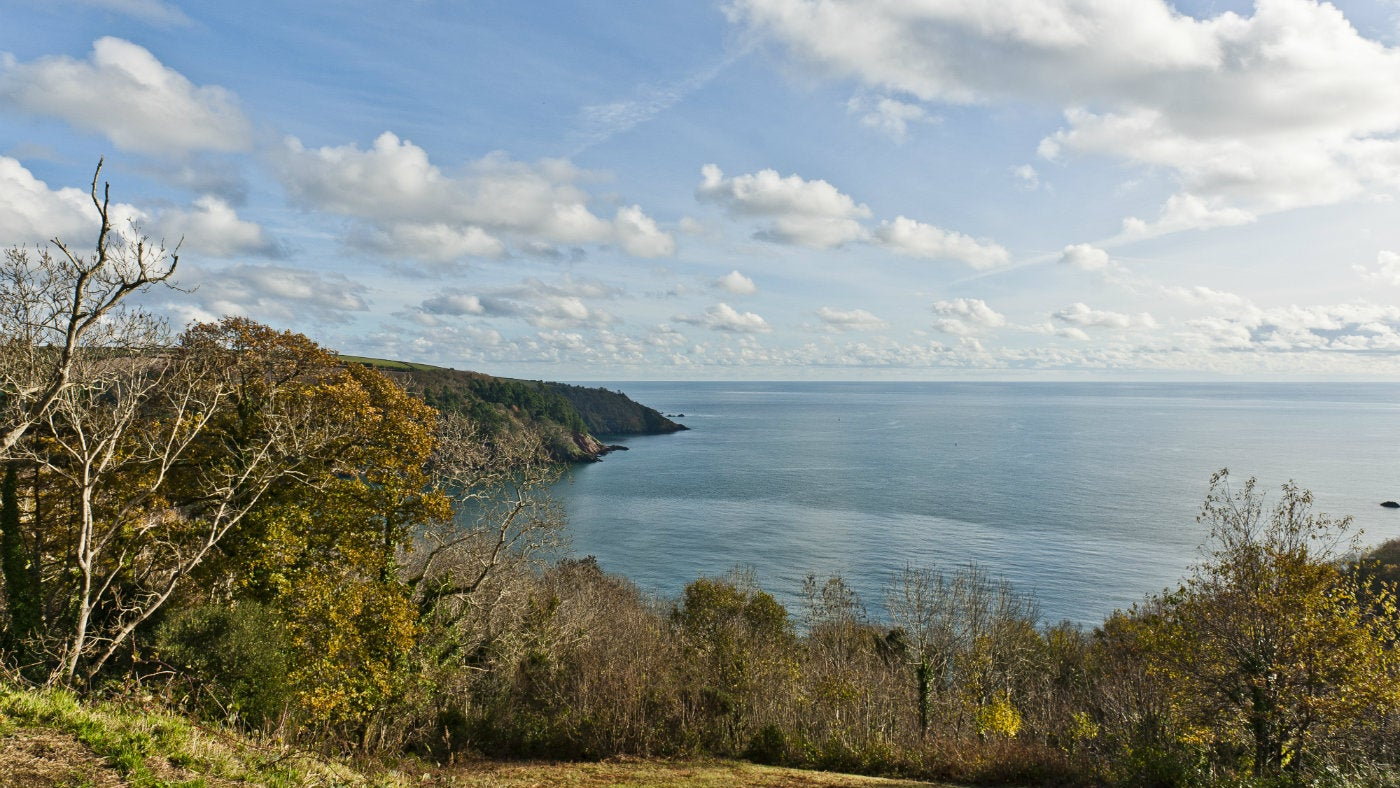 Winter view out to sea from Little Dartmouth