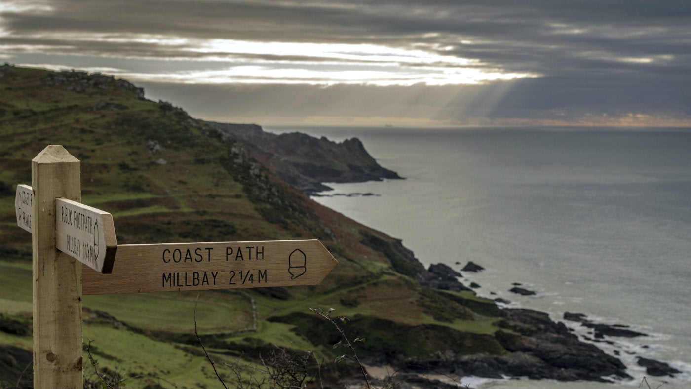 Follow the coast path and take in the views out to sea