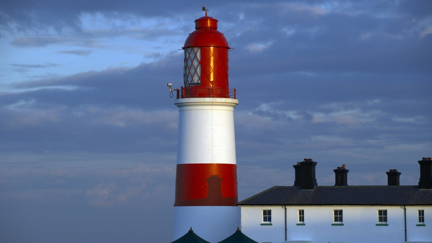 Evening sun on Souter Lighthouse, Tyne and Wear