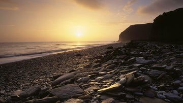 Sunrise over Fox Holes near Easington Colliery, County Durham