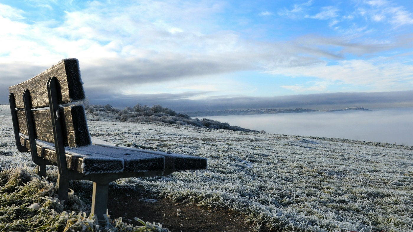 A frosty day on Dunstable Downs