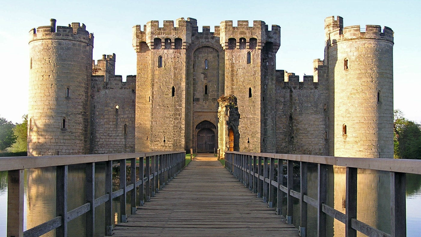 A Me Val Castle At The Foot Of An