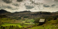 Barn overlooking the Eskdale fields