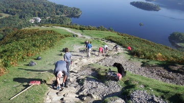 Fix the Fells team on Cat Bells, Lake District
