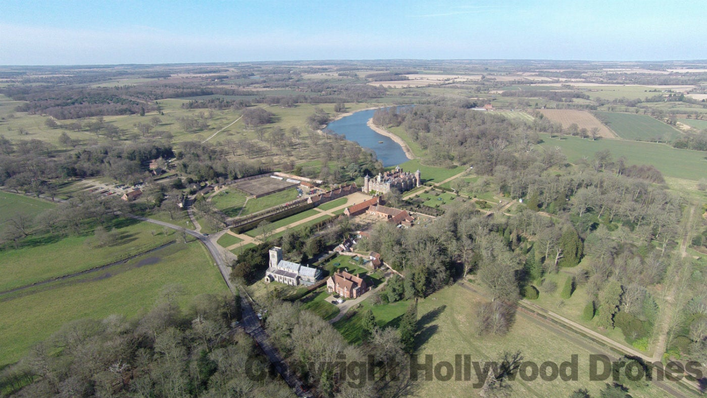 The view of Blickling Estate from the air
