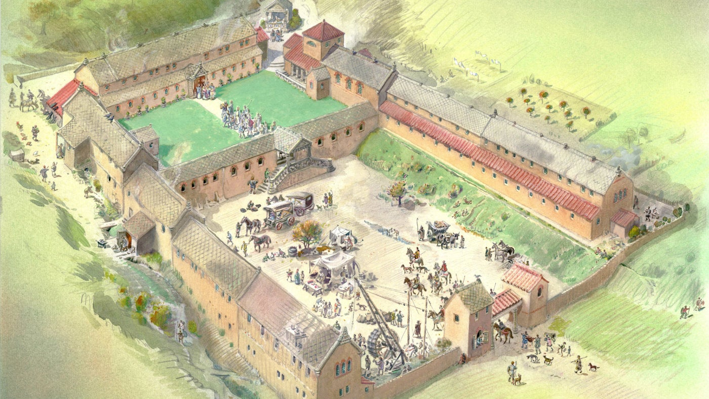 The History Of Chedworth Roman Villa National Trust