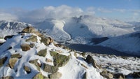 The Scafell massif clothed in its winter robes
