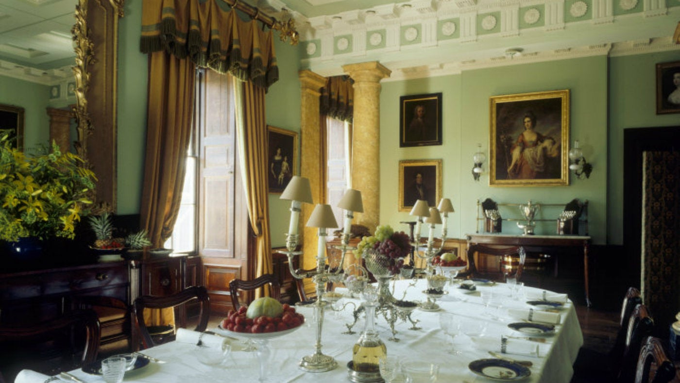 The rooms of parade at erddig national trust for What to hang on dining room walls