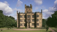A view of the south front of Gawthorpe Hall