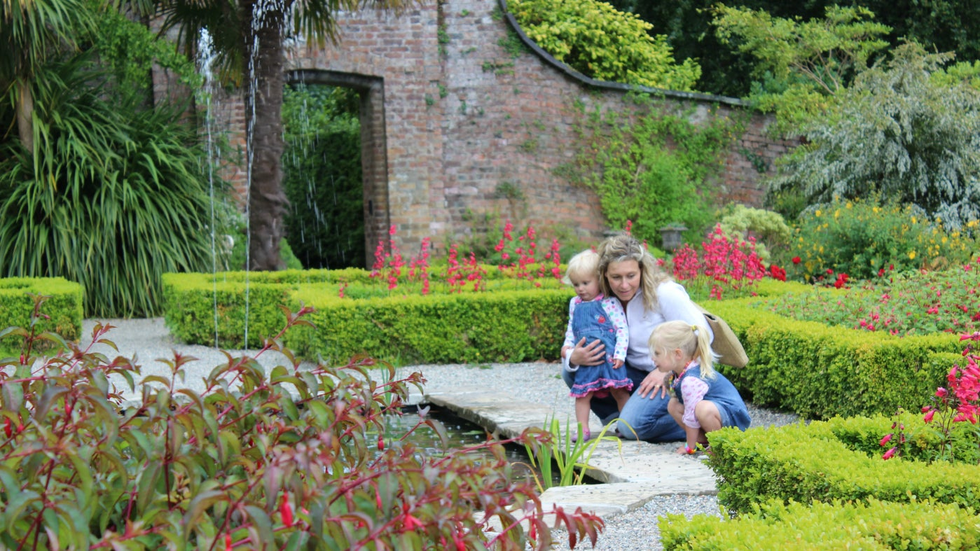 Enjoy the tranquility of the walled garden at Penrhyn Castle