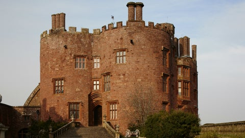 A view of the entrance to Powis Castle and Garden, Powys, Wales