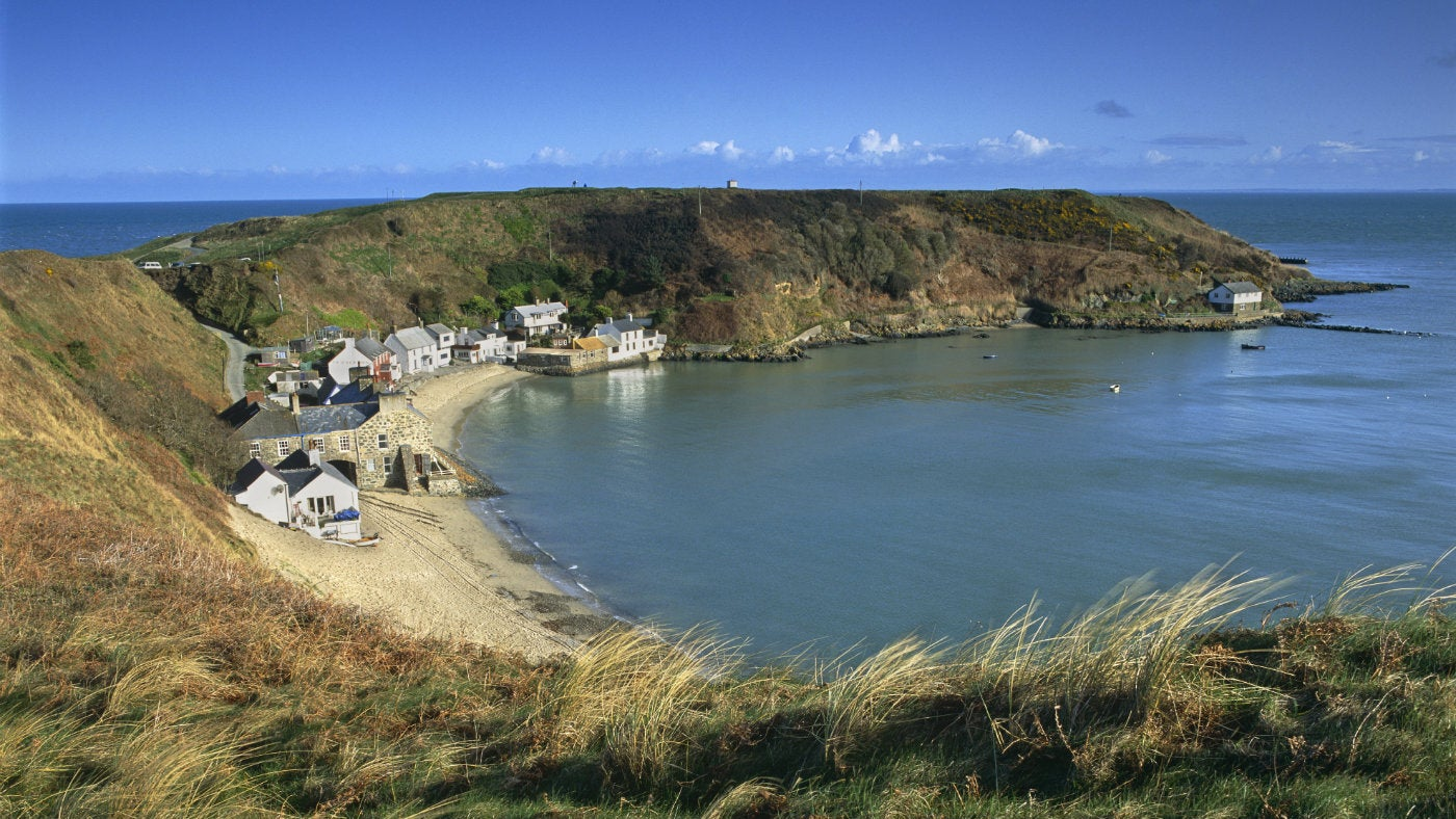 View of Porthdinllaen fishing village