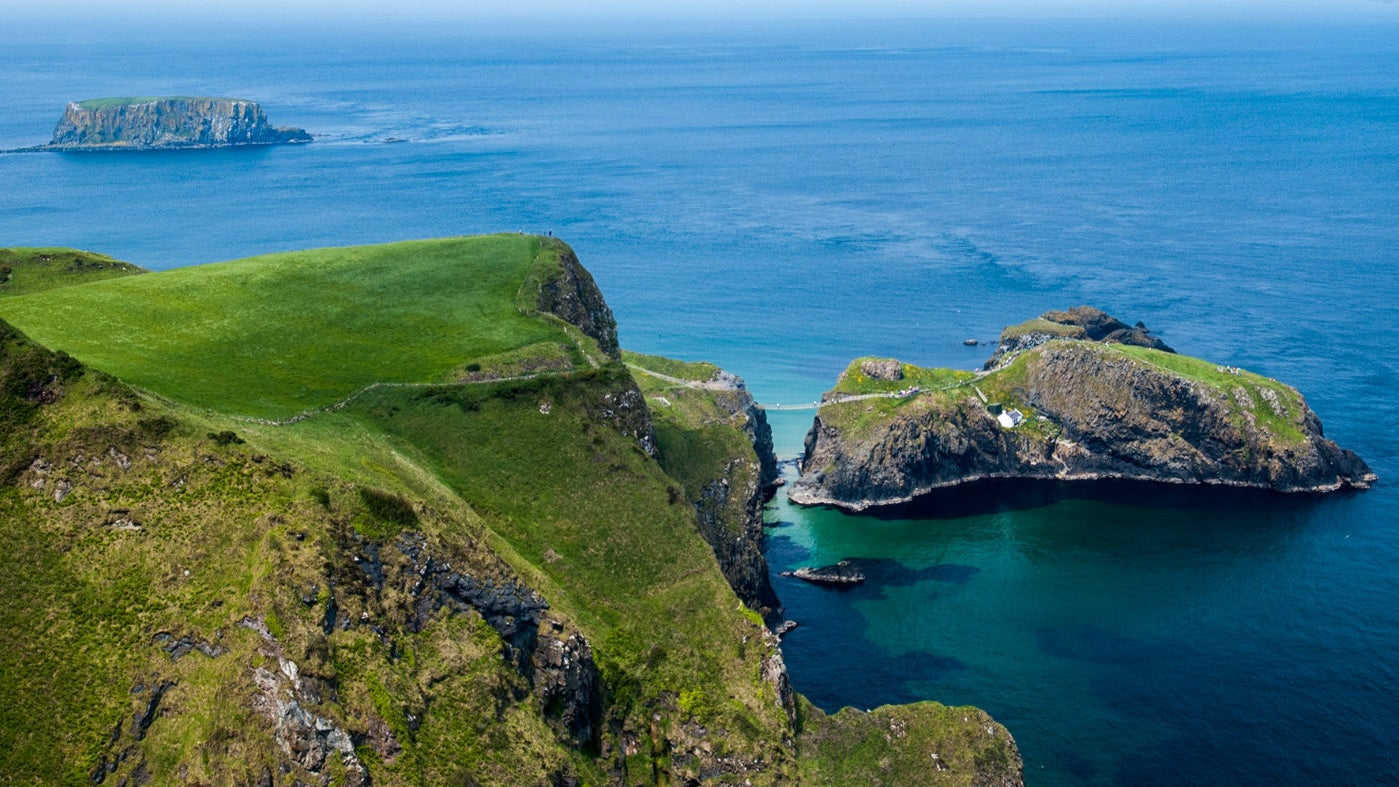 Brilliant blue waters at Carrick-a-Rede