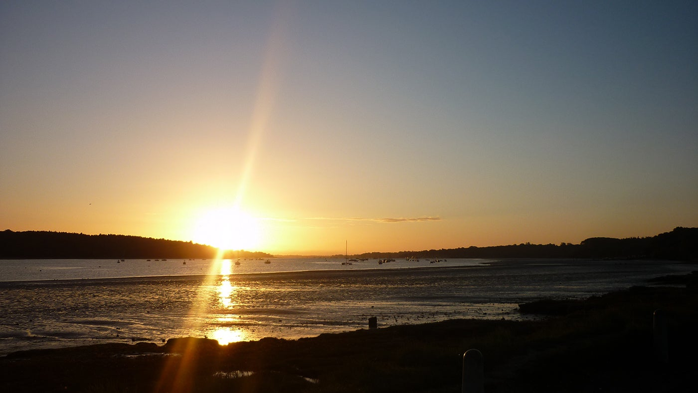 Sunset over the river orwell