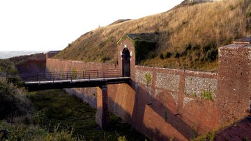 The entrance to Bembridge Fort, Isle of Wight