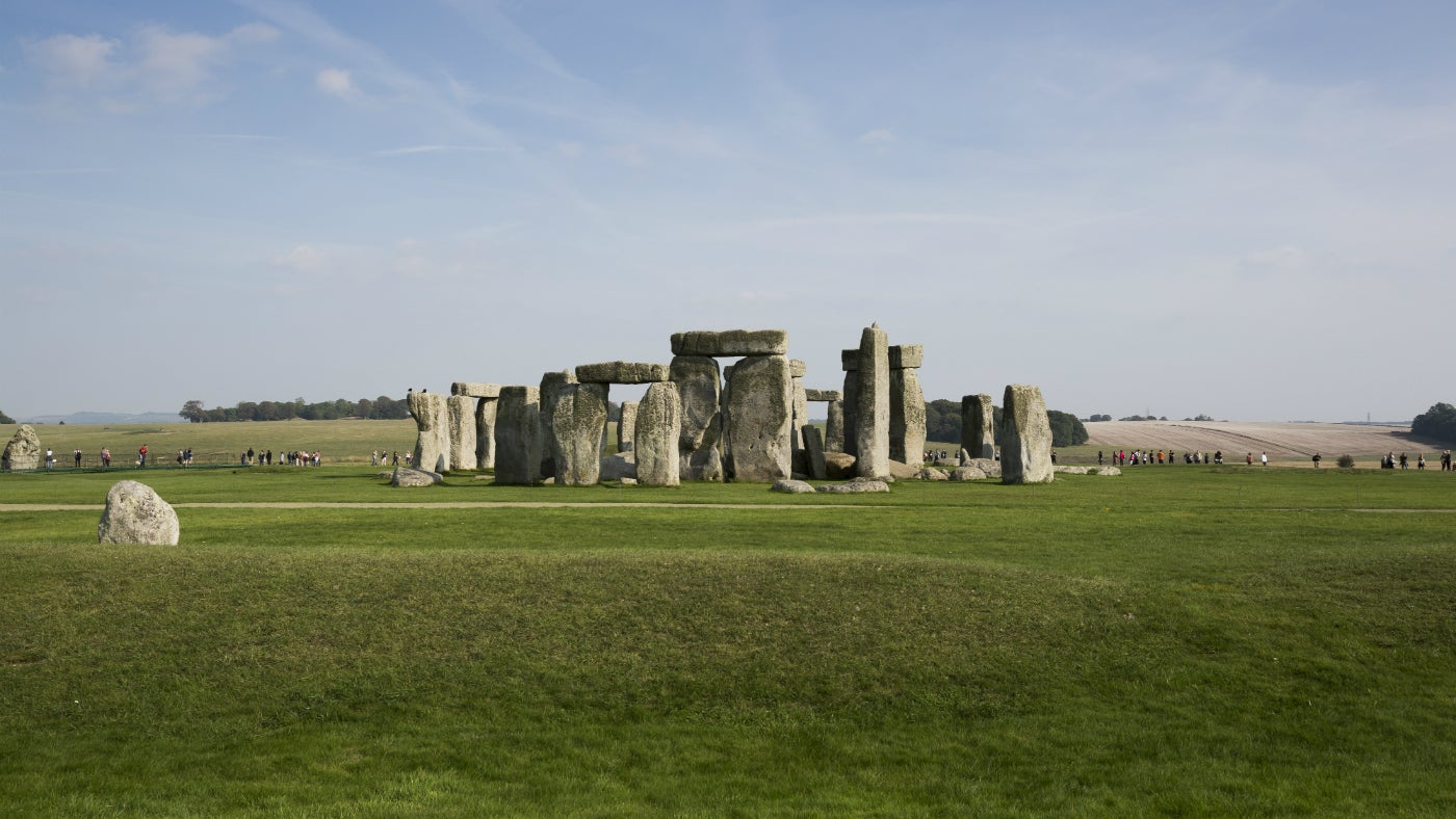 A view of the stone circle at Stonehenge