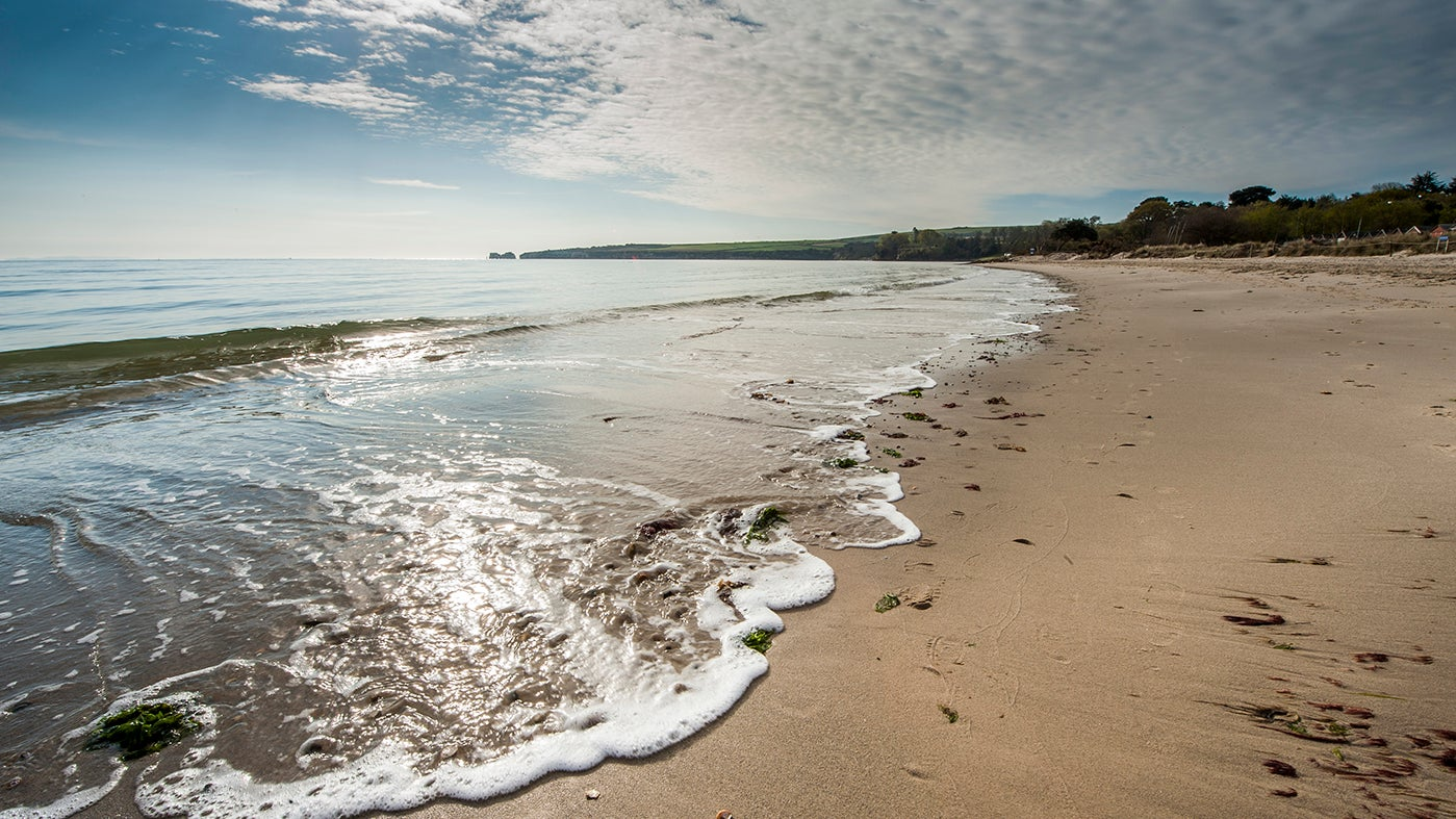 A view of Studland Beach