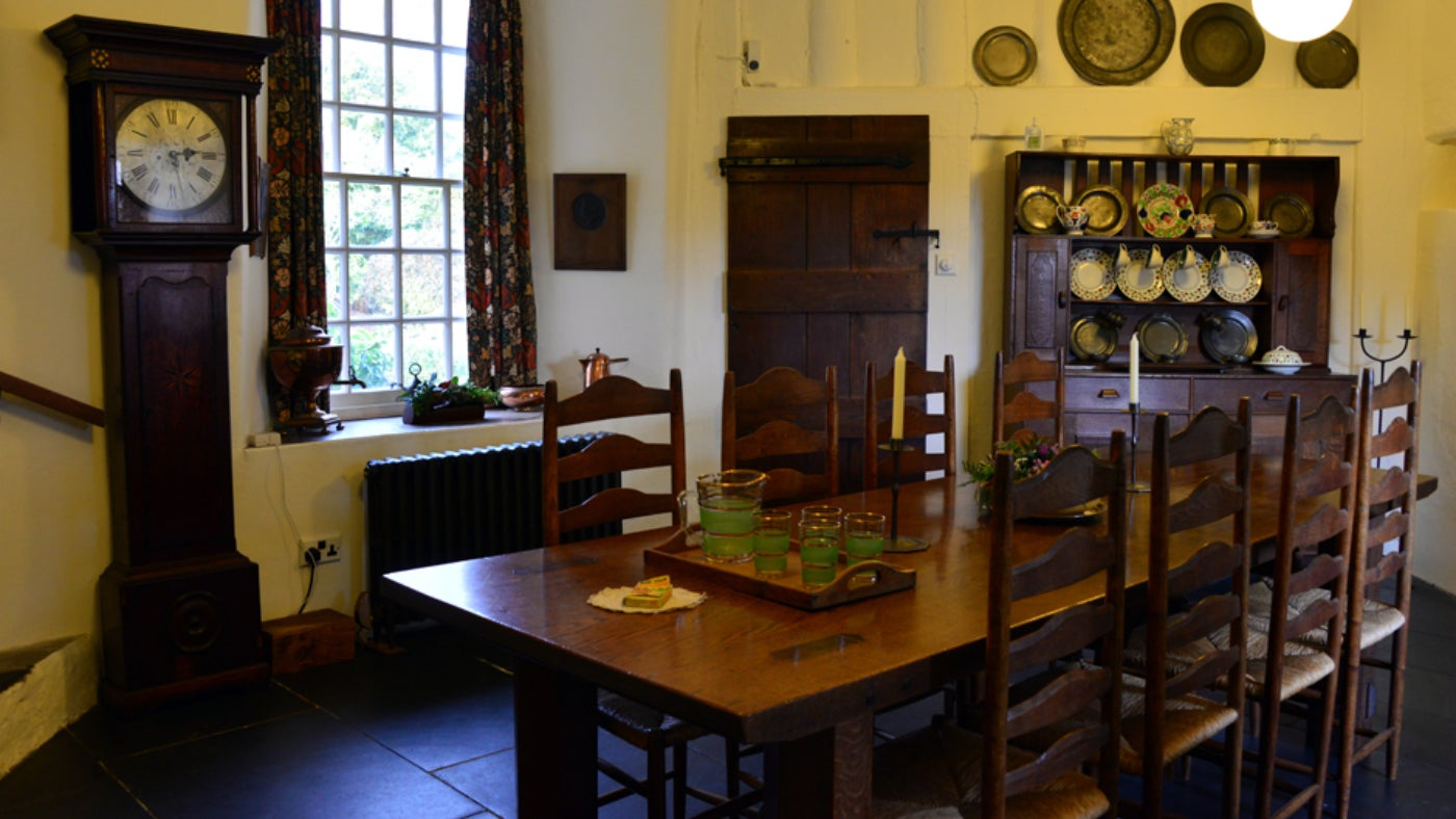 The dining room at Stoneywell