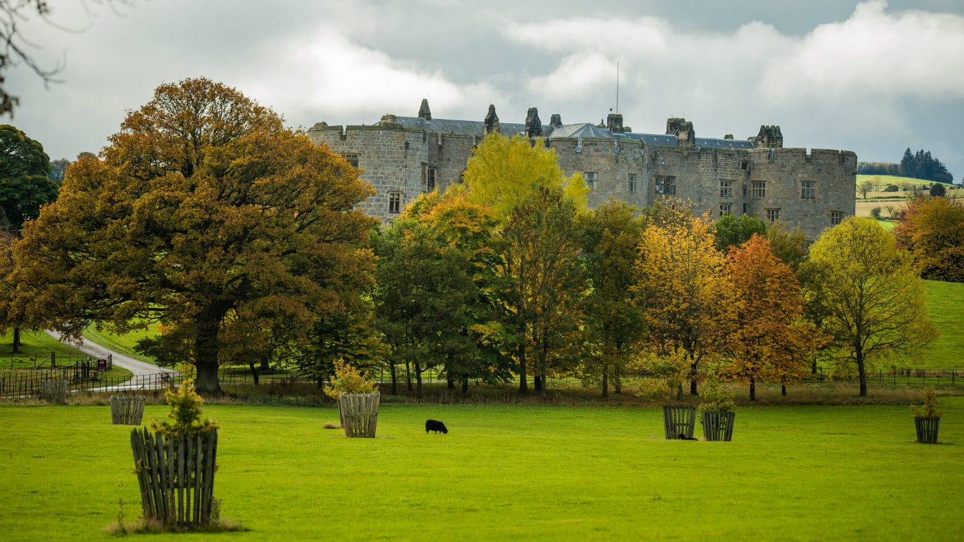 Chirk Castle from the North in Autumn