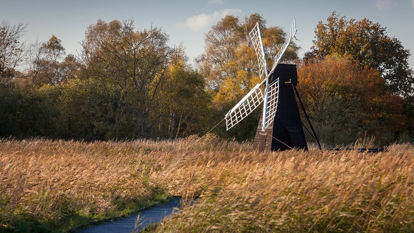 Wicken Fen - Windpump in Autumn