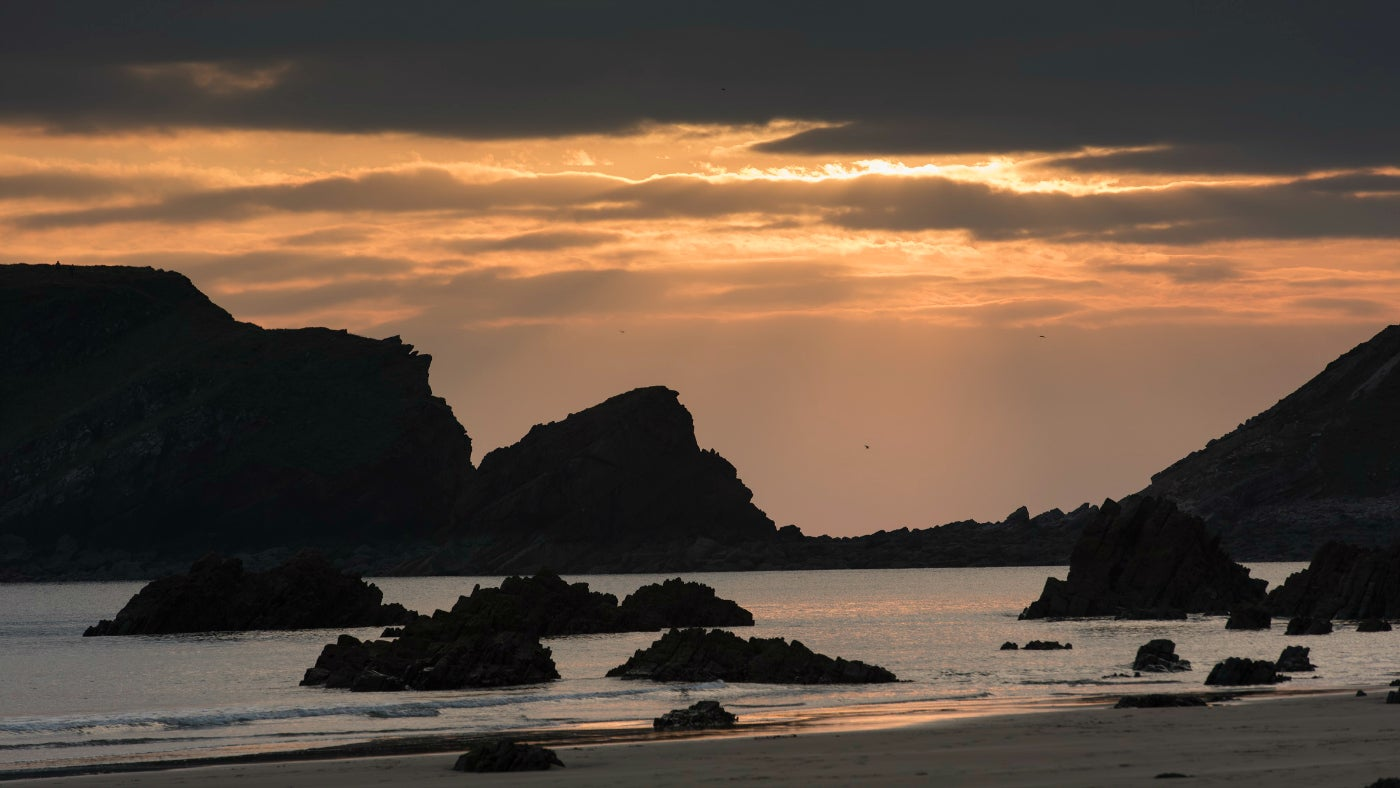 Sunset on Marloes Sands