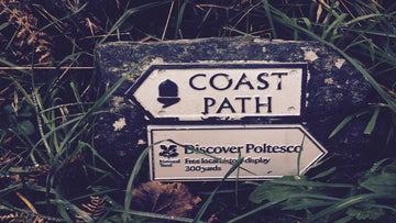 The sign at Poltesco from the SW Coast Path
