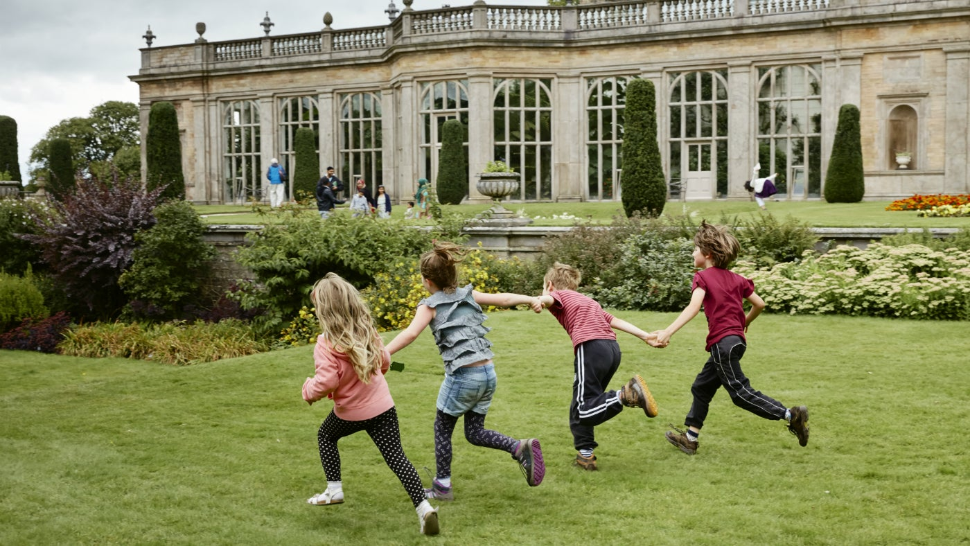 Children playing at Lyme Park